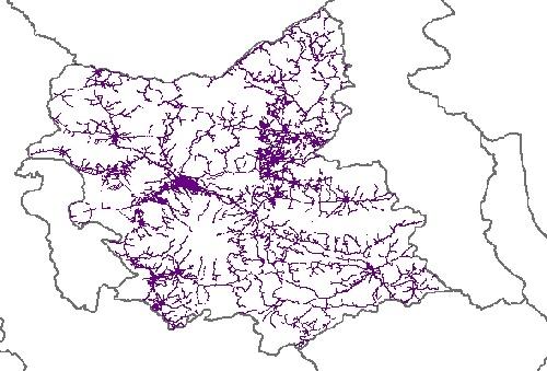 نقشه GIS راههای استان آذربایجان شرقی با آخرین تغییرات سال 96در فرمت Shapefile