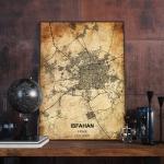 پوستر نقشه مدرن شهر اصفهان در فرمت عکس با کیفیت بالا
