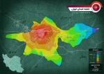 نقشه استان  تهران به همراه فاصله ها از شهر تهران در ابعاد بزرگ و کیفیت عالی سال 99
