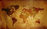 تکسچر نقشه جهان با بافت کهنه و قدیمی