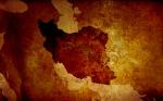 تکسچر نقشه ایران با بافت کهنه و قدیمی